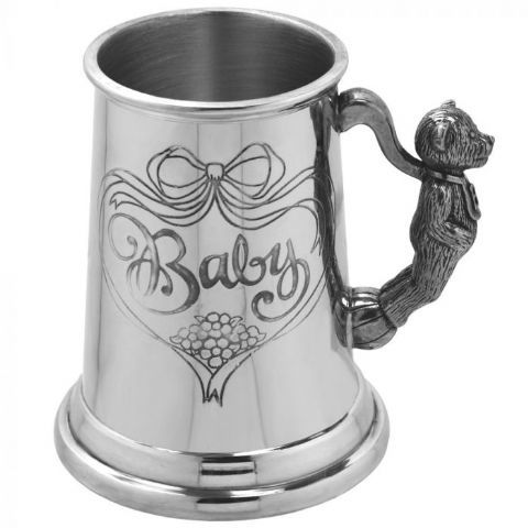 Baby' Teddy Child's Pewter Cup